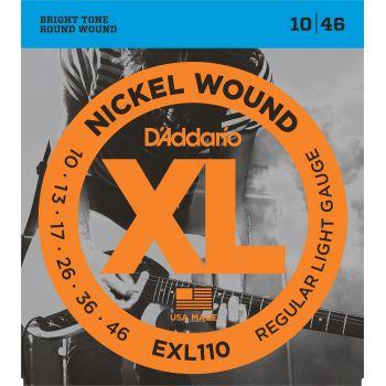 D Addario EXL110 Juego Cuerdas de Guitarra Eléctrica Pack 4 Unidades
