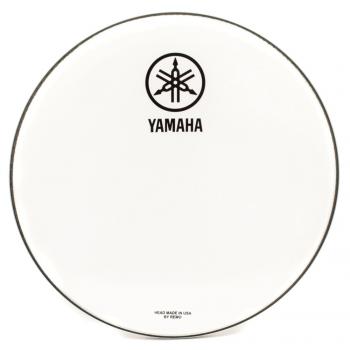 Yamaha Parche Resonante Blanco Logo Nuevo 18
