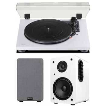 Equipo HiFi TEAC TN-180 BT White Giradiscos Bluetooth + Wiibo NEO 100 White Altavoces Activos Bluetooth