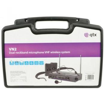 QTX VN2 Microfono Inalambrico Doble de Diadema