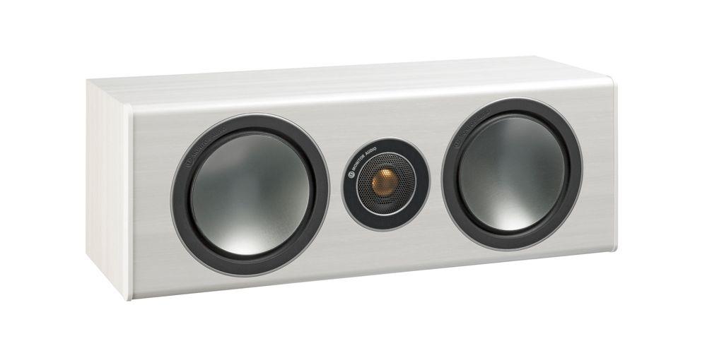 monitor audio bronze centre white