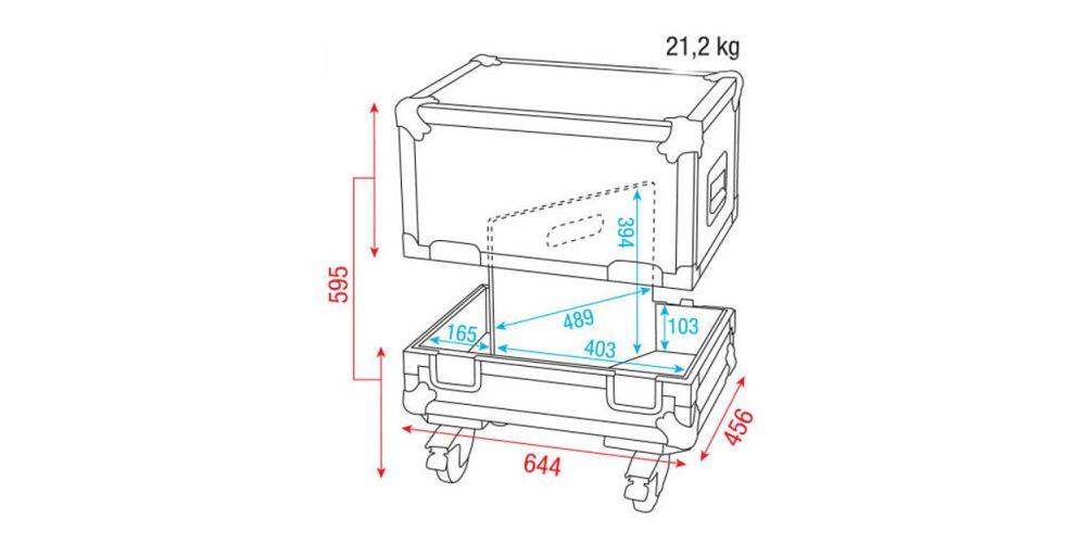 dap audio flightcase 2x monitores escenario 12 d7319 picture