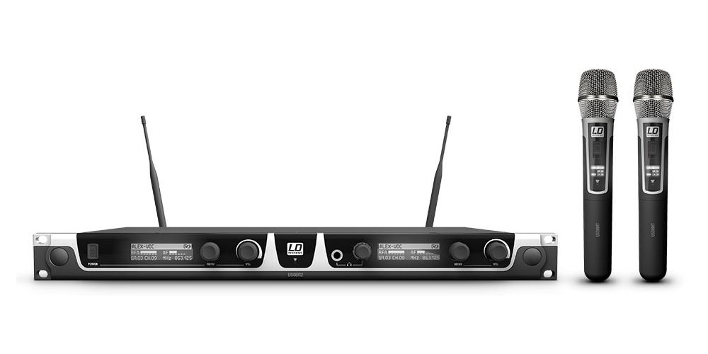 LD SYTEMS U508 HHC 2 Micrófono Inalámbrico Doble de Mano