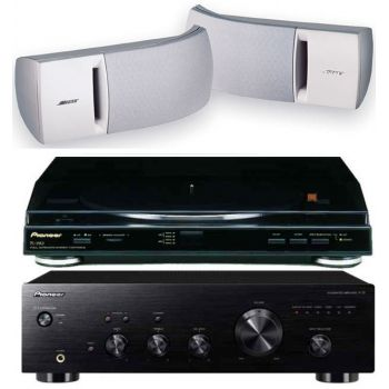 Pioneer A-10K+PL990+Bose161 White
