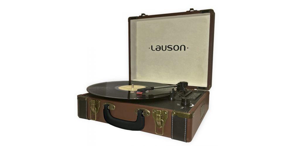 lauson tocadiscos con bluetooth funcion encoding cdmp3 radio amfm cl605 marron