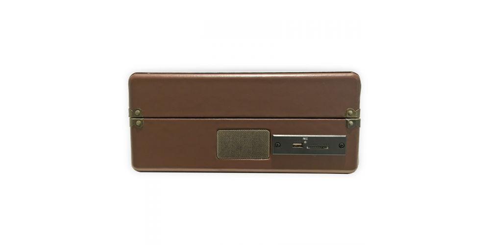 lauson tocadiscos con bluetooth funcion encoding cdmp3 radio amfm maleta marron