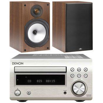 DENON RCDM-41 Silver+Monitor Audio MR1 walnut