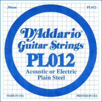 D´addario PL012 Cuerdas para Guitarra Eléctrica y Acústica