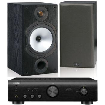 DENON PMA-520-BK+Monitor Audio MR2 BK Conjunto Audio