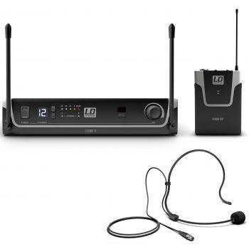 LD Systems U306 BPH Sistema Inalámbrico con Petaca y Micrófono de Diadema