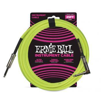 ERNIE BALL 6057 CABLE INSTRUMENTO TRENZADO JACK-JACK SA Amarillo - 7,62m