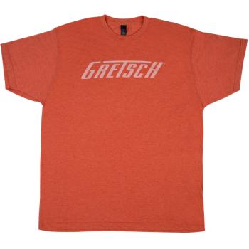 Gretsch Logo T-Shirt Heather Orange XXL