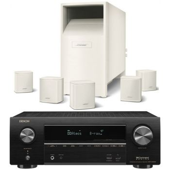 DENON Equipo AV AVR-X1600H + Bose AM-6V White Altavoces Home Cinema