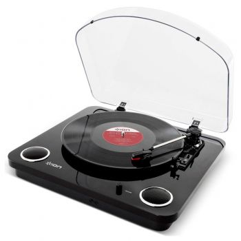 Ion Audio Max LP en Negro Giradiscos Vintage