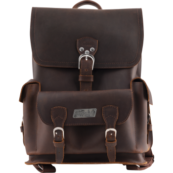 Bigsby Leather Backpack Brown