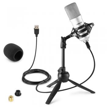 VONYX CM300S Micrófono de Estudio USB Plata 173508