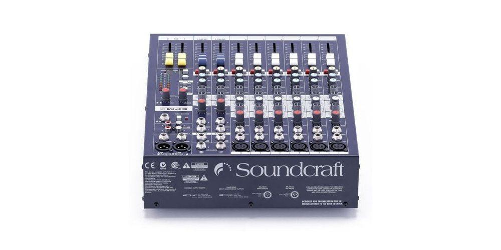 epm6 soundcraft controlador back