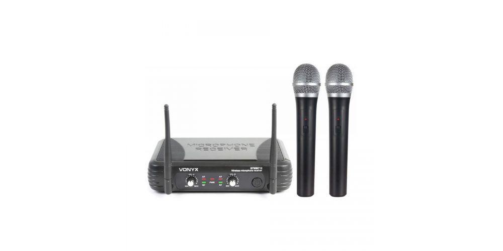 vonyx 179183 stwm712 microfono vhf doble