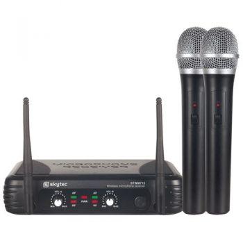 SKYTEC STWM712 Microfono Inalambrico doble de Mano VHF 179183