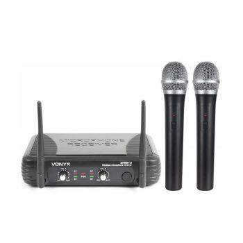 VONYX STWM712 Microfono Inalambrico doble de Mano VHF 179183 By-Skytec