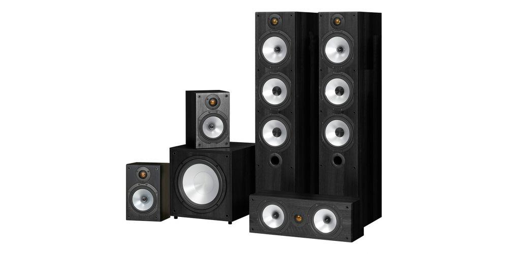 monitor audio power 6 black mr6 av black