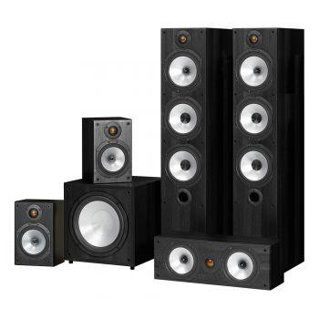 MONITOR AUDIO Kit , MR6 + MR1 + MRCENTER + MRW10, POWER 6 Negro