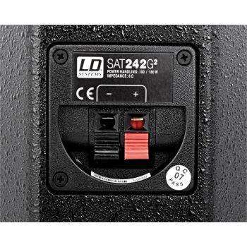 LD SYSTEMS SAT 242 G2 Negro Altavoz Pasivo de Instalacion Unidad