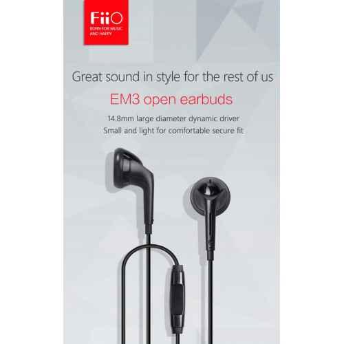 FiiO EM3 Auriculares de Botón con micrófono