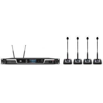 LD SYTEMS U506 CS4 Sistema de conferencia inalámbrico de 4 canales