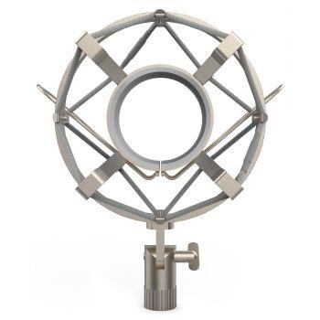 Audibax Araña para Micrófono 46 - 48 mm, Silver