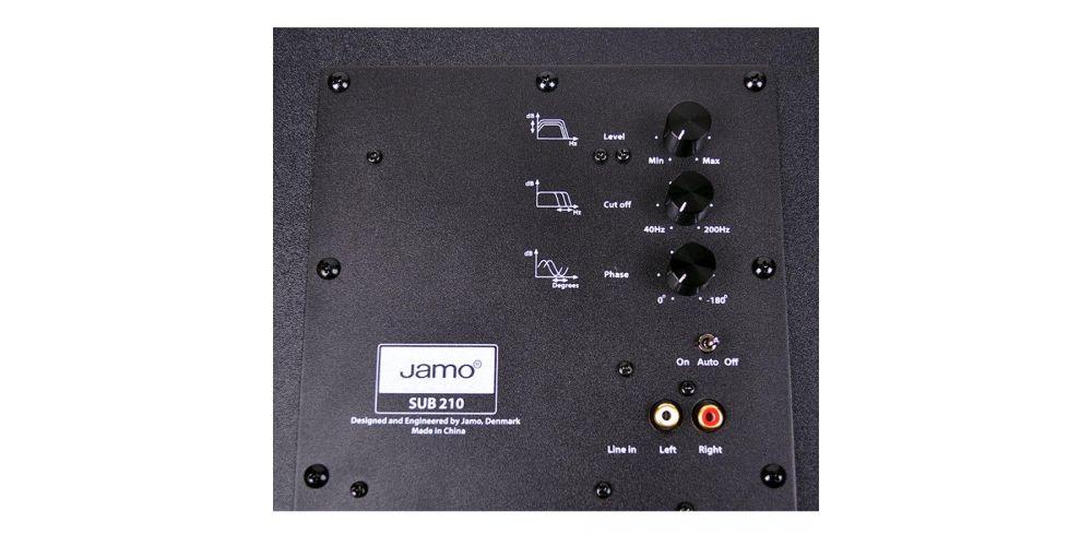 JAMO SUB 210 Negro Subwoofer control frecuencias
