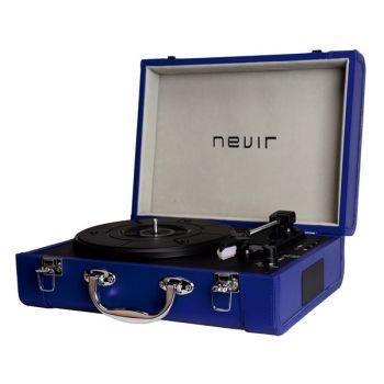 NEVIR NVR-804 VBUCS Tocadiscos Portátil Bluetooth Conversor Azul