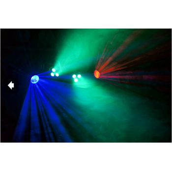 max 153236 Partybar Barra con 2 Focos PAR 3 leds 4-en-1 RGBW + 2 Jellymoon