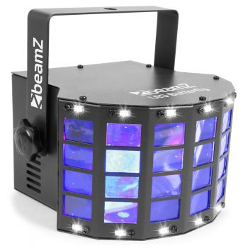 BEAMZ LED Butterfly con strobo 153728
