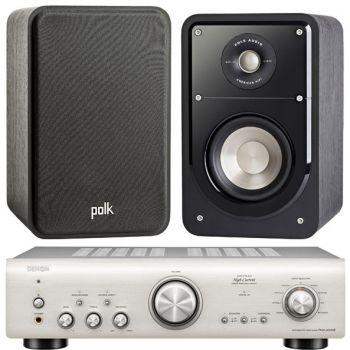 Denon PMA-800AE Silver+Polk Audio S15 Sistema 800/ S15SCD Conjunto Audio