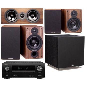 Denon AVR-X2600+Cambridge SX60 Walnut Cinema Pack 5.1 Conjunto AV