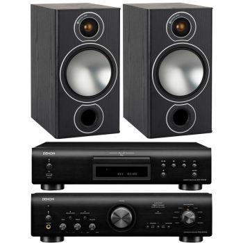 Denon PMA-800AE Black+DCD800 Black+Monitor Audio Bronze 2 Black conjunto sonido