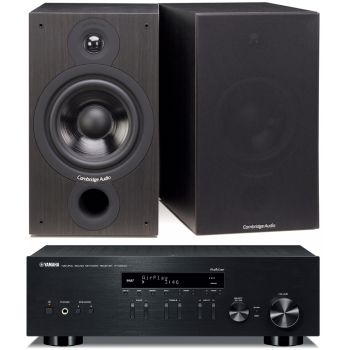 Yamaha RN-303D Black+Cambridge Audio SX60 Black Conjunto Sonido