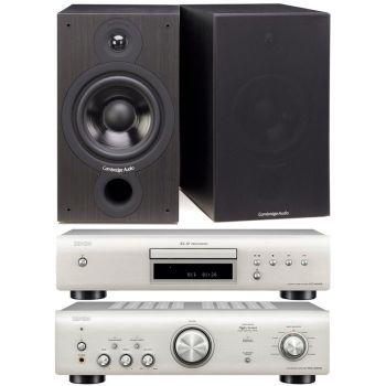 Denon PMA-600 NE Silver+DCD-600 Silver+Cambridge Audio SX-60 Black Conjunto Audio