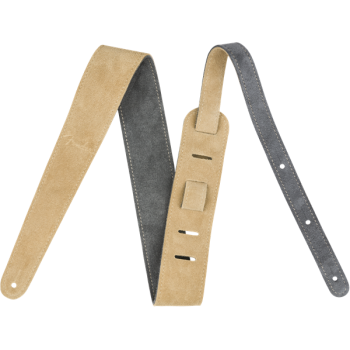 Fender Suede Strap 2 Gray-Tan Reversible