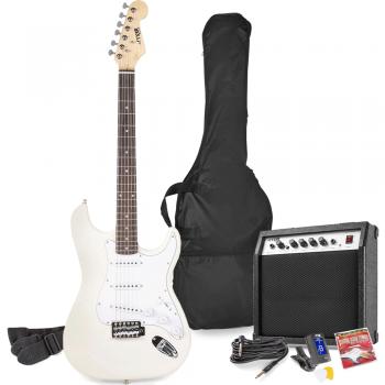 max Gig Kit Guitarra Eléctrica Blanco con Amplificador 173225
