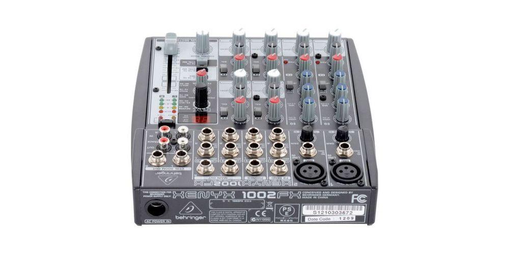 behringer 1002fx mezcladora front conexiones