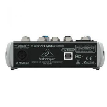 BEHRINGER Q502USB XENYX Mezclador para Directo Q-502 USB
