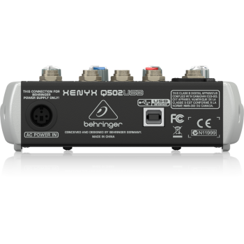 BEHRINGER Q502USB XENYX Mezclador USB de 5 canales