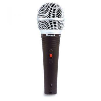 NUMARK WM 200 Micrófono de mano con cable de 6 m, soporte y estuche.