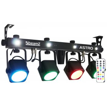 Beamz 150490 LED ASTRO PAR BAR 4 Vias 4x 10W COB DMX