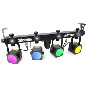 Beamz ASTRO LED PAR BAR 4 Vias 4x 10W COB DMX 150490