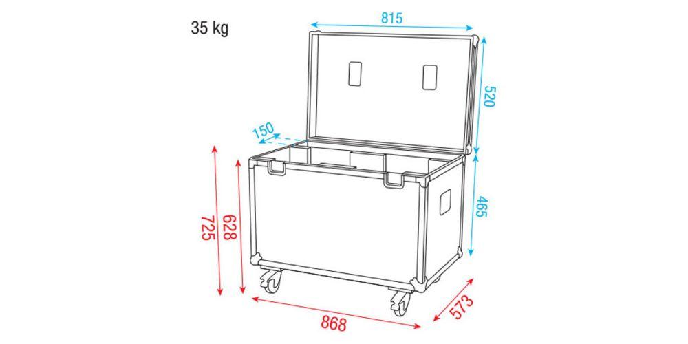 Dap Audio Case for 2x iB-2R D7031