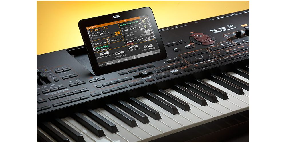 KORG PA4X 76 pa4x 61 teclado semicontrapesadas detalle pantalla