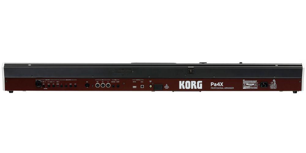 KORG PA4X 76 teclado 76teclas semicontrapesadas parte posterior